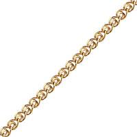 Мужская цепочка ЦП105и Лав4 крупн, Красное золото, Размер 45