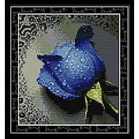 "Вышивка крестиком ""Синяя роза"" 30х32см H023(3)"
