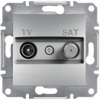 Розетка TV-SAT оконечная (1 дБ) Алюминий Asfora, EPH3400161
