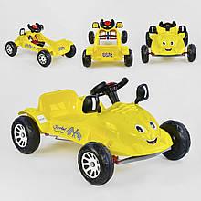 Детская машинка с педалями Pilsan HERBY 07-302 Желтый, клаксон на руле