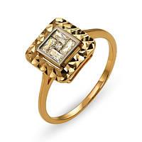 Женское кольцо КВ1333Ки, Красное золото, Размер 16