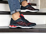 Мужские кроссовки Asics,сетка,темно синие с красным, фото 2