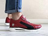 Кожаные кроссовки Puma, красные, фото 2