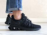 Модные мужские кроссовки Nike Shox Gravity,черные, фото 3