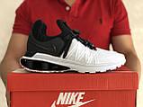Модные мужские кроссовки Nike Shox Gravity,белые, фото 2