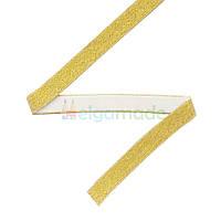 Тесьма эластичная для повязок, ЗОЛОТИСТАЯ тонкая, 11 мм
