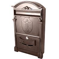 Почтовый ящик VITA коричневый Герб Лев