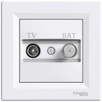 Розетка TV-SAT проходная (4 дБ) Белая, Asfora EPH3400221