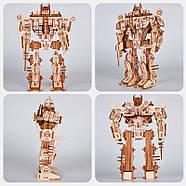 Деревянный 3D конструктор пазл трансформер Мегатрон десептикон, фото 3