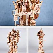 Деревянный 3D конструктор пазл трансформер Мегатрон десептикон, фото 4