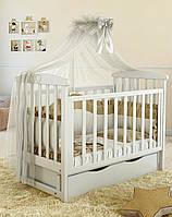 Детская кроватка Angelo Lux -7 белая