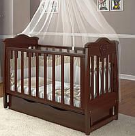 """Детская кроватка Angelo Lux -5 """"темный орех"""""""