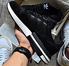 Мужские кроссовки Adidas ZX 500 RM Black/White, адидас зх 500, фото 2