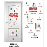 Наклейки для школы на двери для оформления: кабинета математики