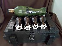 "Сувенирный набор - подарок мужу ""Бойовий резерв"", 4 рюмки фляга. Дерево., фото 1"