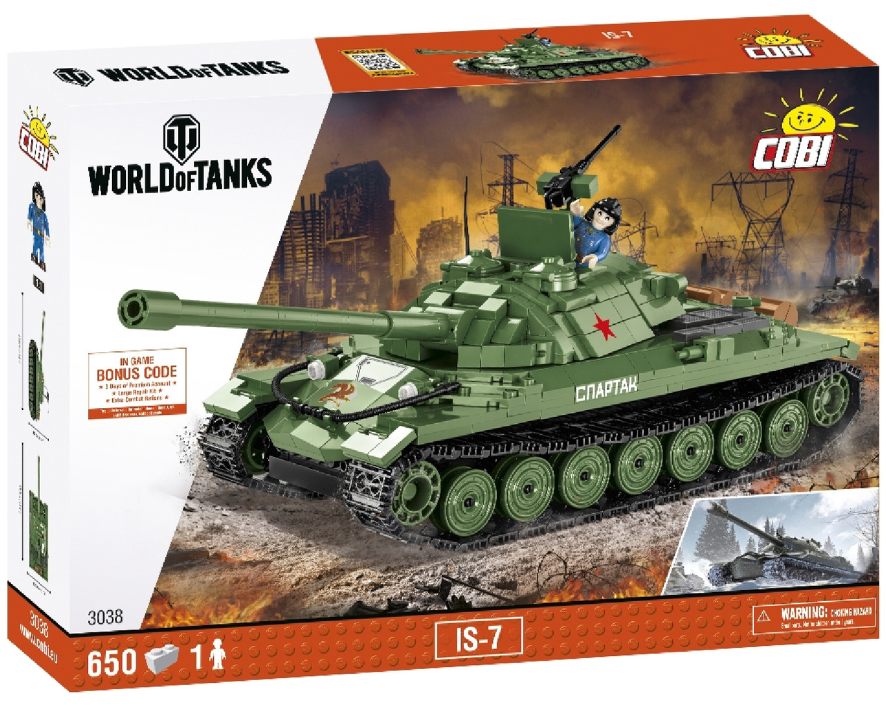 Конструктор Танк ИС-7 COBI World Of Tanks (COBI-3038)