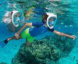 Детский набор для плавания 2 в 1 (полнолицевая панорамная маска FREE BREATH XS + короткие спортивные ласты M), фото 6
