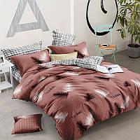 Комплект постельного белья Перья, материал Ранфорс - 3 размера Евро