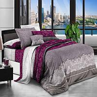 Комплект постельного белья Узор цветные полосы, материал Ранфорс - 4 размера