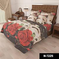 Комплект постельного белья Красные розы - 4 размера материал Gold Евро