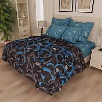 Комплект постельного белья Завитки большие  - 4 размера материал Gold