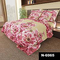 Комплект постельного белья Большие Цветы - 4 размера материал Gold Полуторный