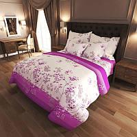 Комплект постельного белья Цветение violet - 4 размера материал Gold