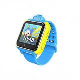 Детские Smart часы Baby watch Q200 (TW6) 1.54' LED + GPS трекер Blue, фото 2