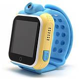 Детские Smart часы Baby watch Q200 (TW6) 1.54' LED + GPS трекер Blue, фото 3