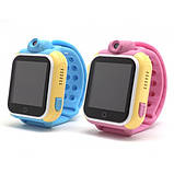 Детские Smart часы Baby watch Q200 (TW6) 1.54' LED + GPS трекер Blue, фото 5