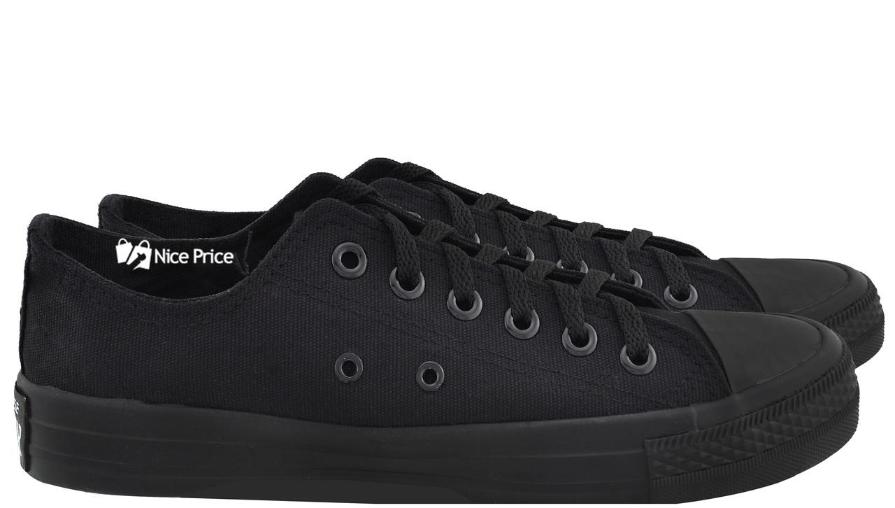 Кеды Converse All Stars Black Monochrome Low M5039 (черные)