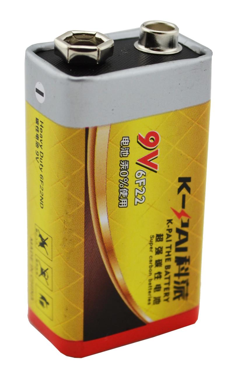 Батарейка солевая K-Pai 6F22 9V цинк карбон
