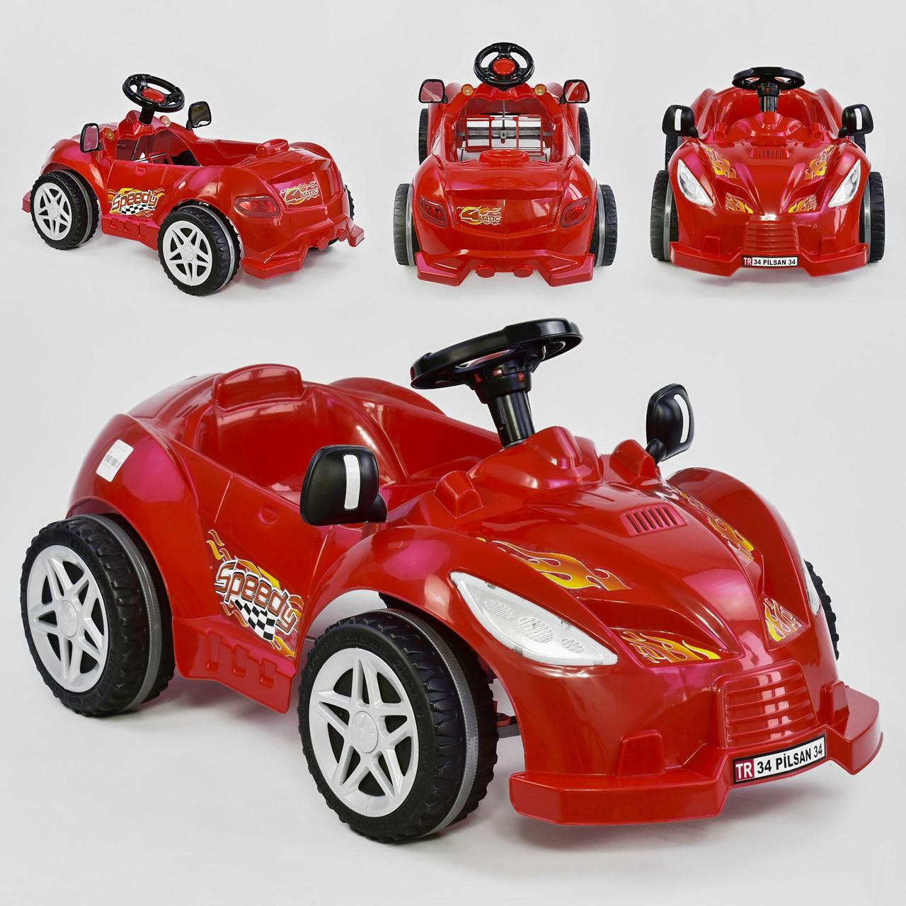 Машина педальная Pilsan Herby 07-312 Червоний, клаксон на кермі