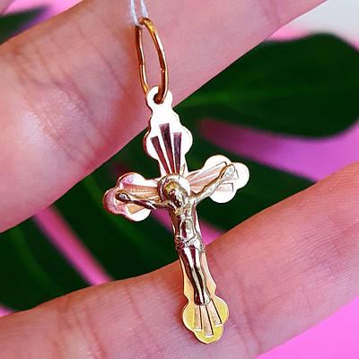 Хрестик з жовтого золота 23283