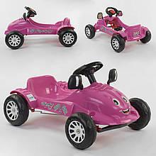 Детский педальный автомобиль Pilsan HERBY 07-302 Фиолетовый, клаксон на руле