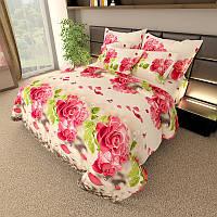 Комплект постельного белья Gold Розы - 2 размера Евро