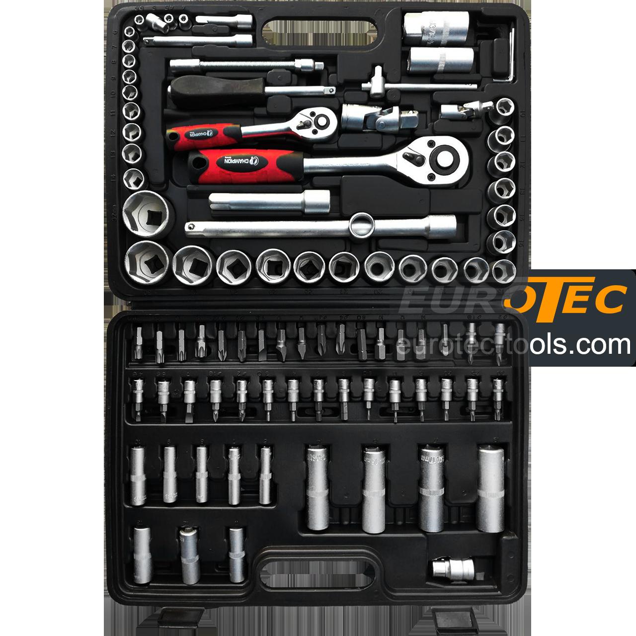 Набор торцевых головок и бит 94 предмета, Champion CP-007S, набор инструментов для авто
