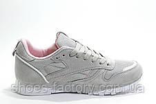 Кроссовки женские в стиле Reebok Classic Leather, Beige\Pink\White, фото 3