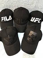 Чёрная спортивная трикотажная кепка Унисекс  Размер: 56- 60 см (2026)