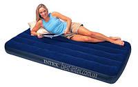 Односпальный надувной матрас Downy Royal Intex 68757 (99х191х22 см. )