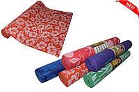 Лучшая цена! Йогамат с рисунком, коврик для фитнеса, пилатеса PVC толщина 4 мм ширина 61 длина 180 см