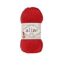 Детская пряжа (100% микрофибра акрил, 100г/350м) Alize Diva Baby 56(красный)