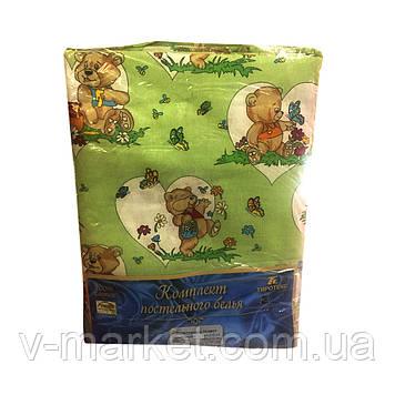 """""""Мишки"""" полуторное постельное белье с детским рисунком, Тирасполь, Tirotex, 100% хлопок"""