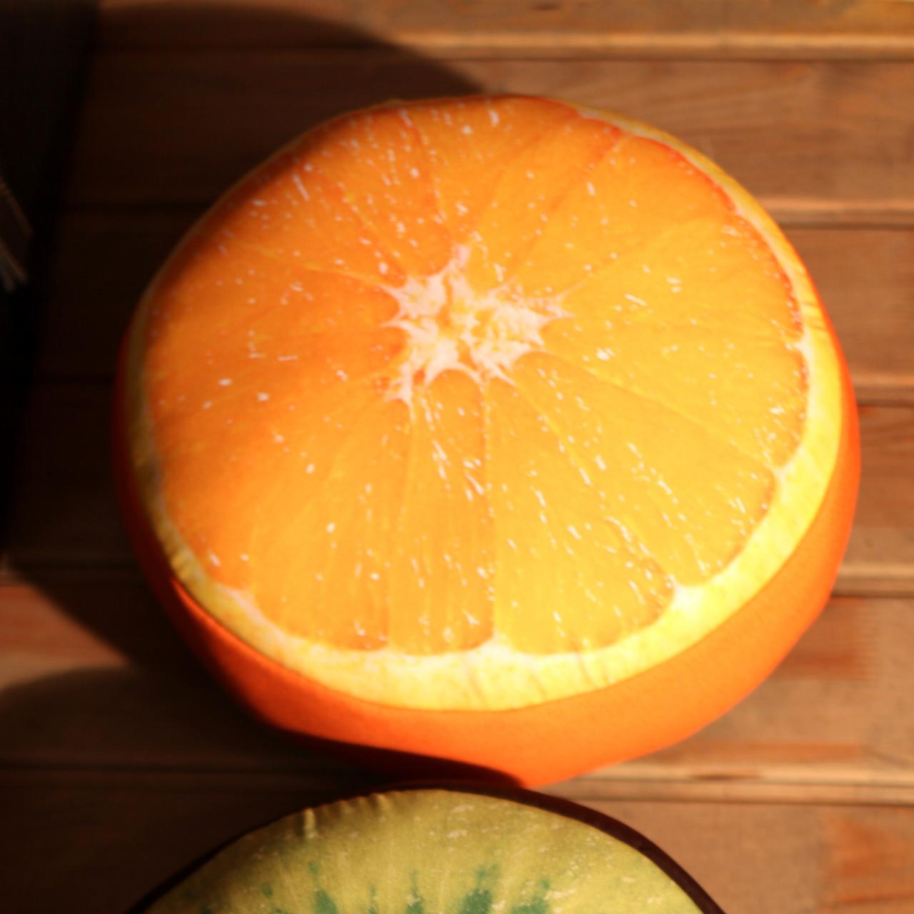 Подушка пуфик круглая Сочный апельсин 35 см (PP_15M075)