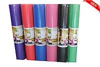 Лучшая цена! Толстый йогамат, коврик для йоги, фитнеса, пилатеса PVC толщина 6 мм 61х180 см