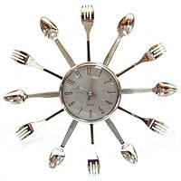 Часы Ложки-Вилки серебро