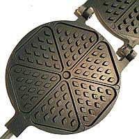 """Форма алюминиевая с тефлоновым покрытием для выпечки печенья """"Треугольники"""" с деревянными ручками"""