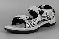 Сандалі босоніжки чоловічі шкіряні на липучці сірі Bona 776Z Бона Розміри 41 44, фото 1