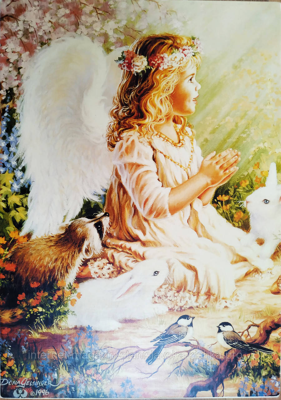 Картина Ангел прінт на дереві