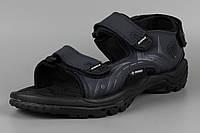 Сандалии босоножки мужские кожаные на липучке синие Bona 776H Бона Размеры 41 43 44 45 46, фото 1